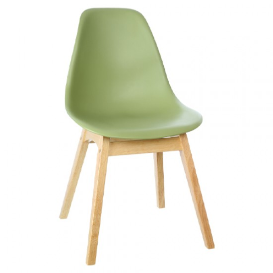 ROME Classic Side Chair With Rubberwood Base