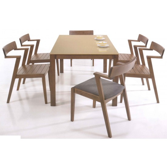 ROCCO Dining Chair (Cushion & Wooden Seat)