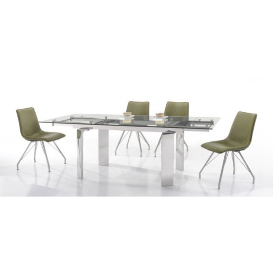 HARIS Extension Glass Dining Table