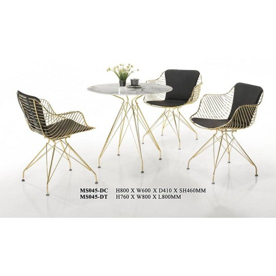 STAINLESS STEEL GOLDEN DINING CHAIR