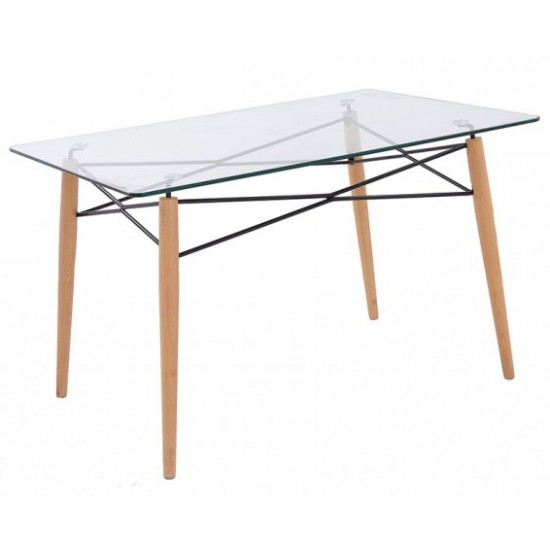 EAMES Glass Top Table