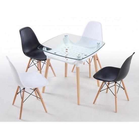 LIVIO Glass Top Table