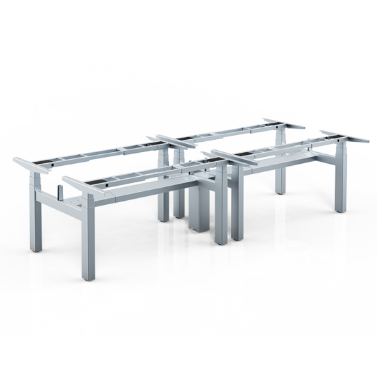 IDM Height Adjustable Cluster of 4 Table Frame / Lifting Frame / Sit-Stand Table Frame