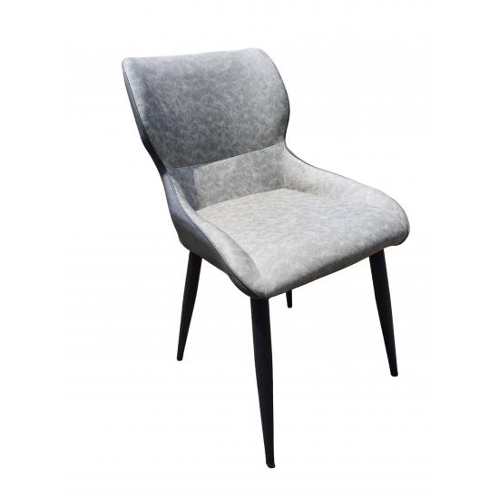 VELUS PU Seat Metal Legs Dining Chair