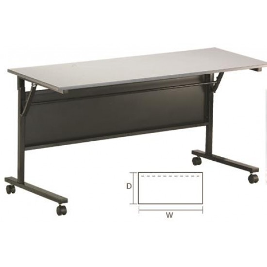Foldable Rectangular Training Table with Wheels