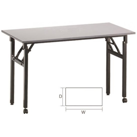 Foldable Rectangular Training Table with 2 Wheels