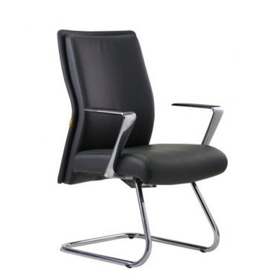 LONG Lowback Office Chair - Cantilever