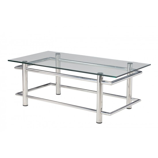 Tempered Clear Glass Coffee Table - GCT-A12060