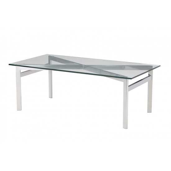 Tempered Clear Glass Coffee Table - GCT-B12060