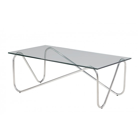Tempered Clear Glass Coffee Table - GCT-C12060