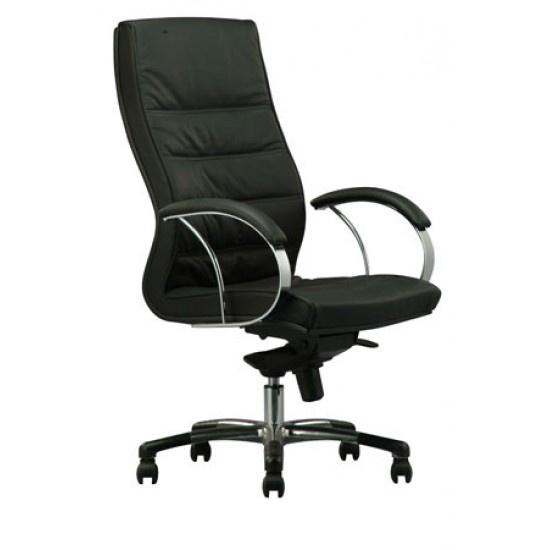 DIVA Leather Series D - Highback Arm Chair