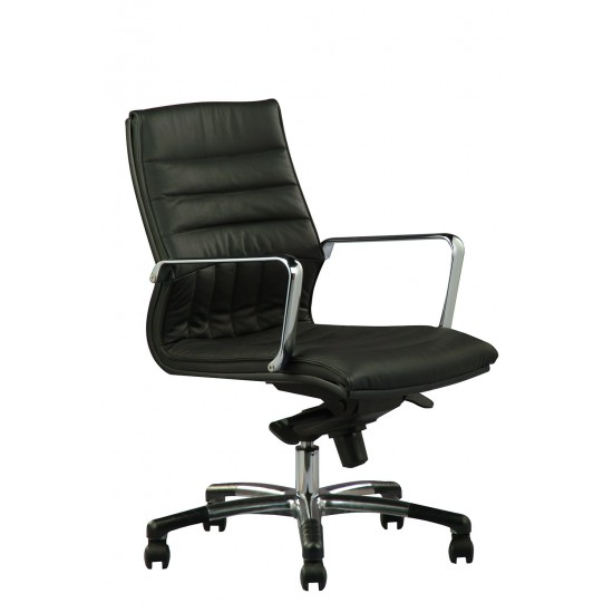 DIVA Leather Series F - Lowback Arm Chair