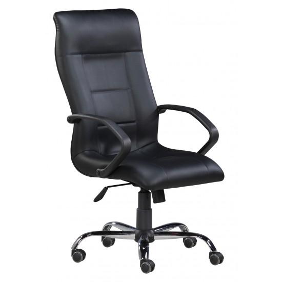 Vista - 81L - Highback Arm Chair with Steel Chrome Base