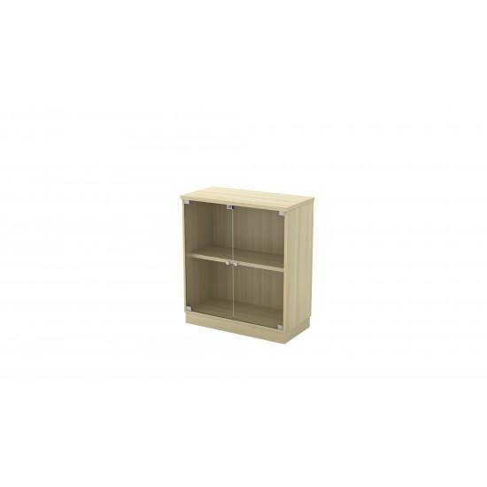 Q Series Swinging Glass Door Low Cabinet
