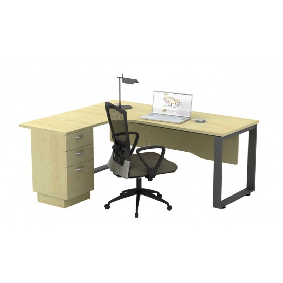 SQ Base Superior Compact Table with 2D1F Pedestal