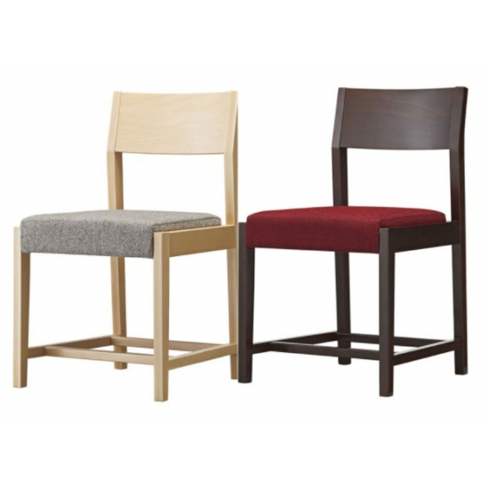 Wooden Dining Chair with Bag Storage for Yakiniku
