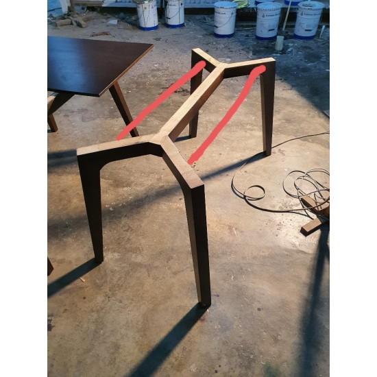 Nyatoh Wood Table Base for Stone 1600x980