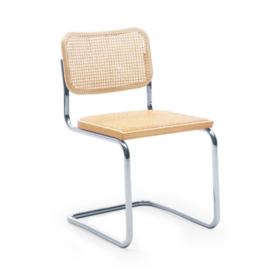 BESCA Rattan Mesh Stainless Steel Side Chair