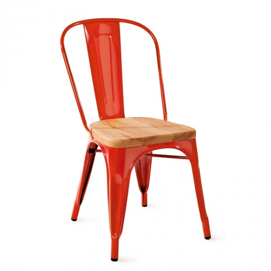 TOLIX Wooden Side Chair (R)