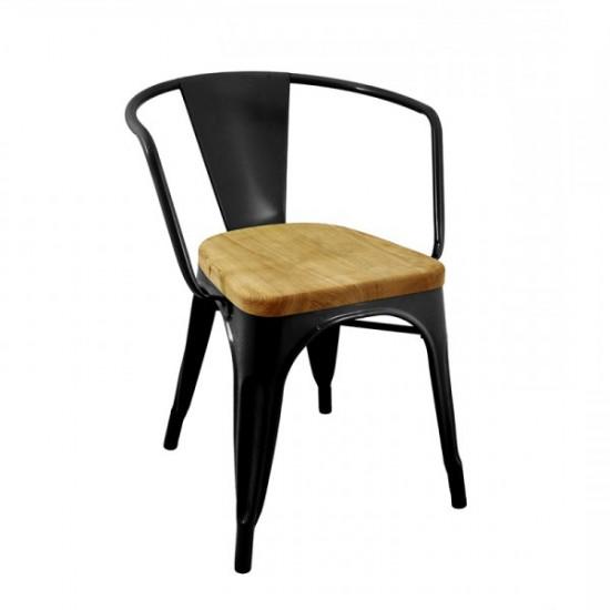 TOLIX Wooden Armchair (R)
