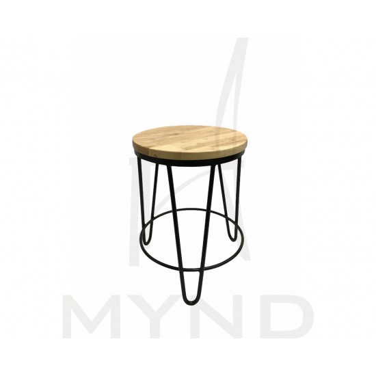 SAMPLE - Customized Wooden Stool with Metal Hairpin Legs