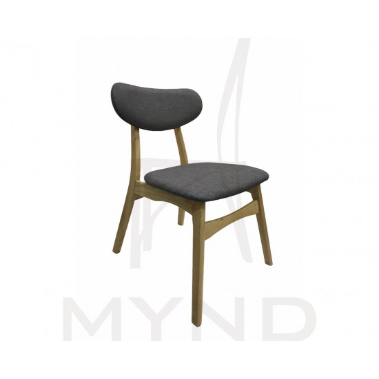SAMPLE - Fabric Dining Chair with Wooden Frame