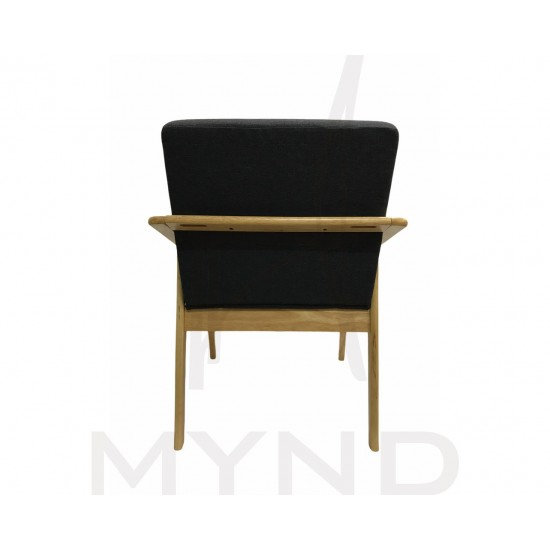 SAMPLE - Fabric Armchair with Wooden Frame